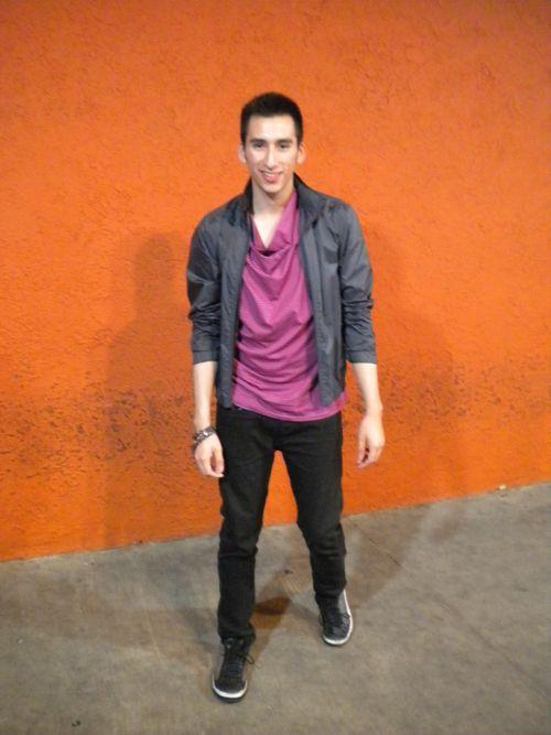 Alfani Jacket, McQ Alexander McQueen Drape Neck Shirt, Corpus Jeans, Target Necklace (Bracelet)